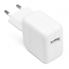 USB oplader - Apple - 1 poort (2.4A, USB A, Wit)