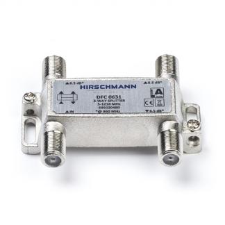 F Connector Splitter Hirschmann 3 Weg 65 Db Ziggo Gecertificeerd