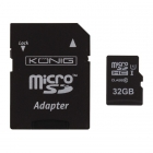 König Micro SDHC geheugenkaart met adapter (Class 10 UHS-I, 32 GB) CSMSDHC32GB K170301107