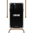 Lookabe iPhone 11 Pro Max hoesje - Lookabe (Necklace case, Softcase, Transparant/Roze) LOO031 K010223287