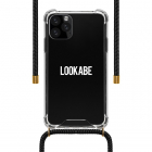Lookabe iPhone 11 Pro Max hoesje - Lookabe (Necklace case, Softcase, Transparant/Zwart) LOO028 K010223286