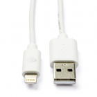 Nedis Apple Lightning kabel | 1 meter (Wit) CCGP39300WT10 N010901138
