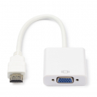 HDMI naar VGA adapterkabel - Nedis - 0.2 meter (Jack 3.5 mm, Full HD)