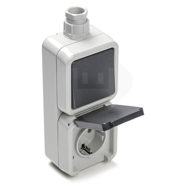 Uitzonderlijk Stopcontact met schakelaar - Peha (Opbouw Randaarde Buiten) PEHA DO98