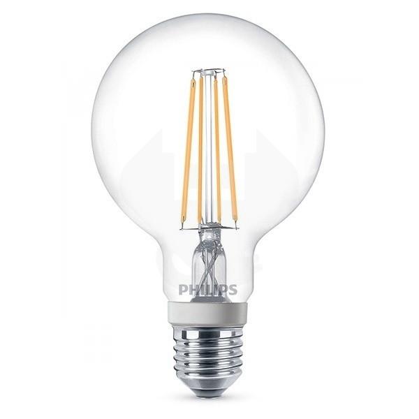 LED lamp E27 Globe Philips (8W, 806lm, 2700K, Dimbaar)