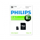 Philips Micro SDHC geheugenkaart met adapter (Class 10, 8 GB) FM08MP45B/10 K170301102