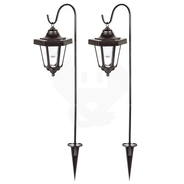 prikspot lantaarn ranex led solar schemersensor 2 stuks
