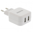 USB oplader - Sweex - 2 poorten (USB A, 4.8A, Wit)