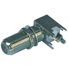 Valueline F-connector haakse contra plug chassis FC-017 K060302156
