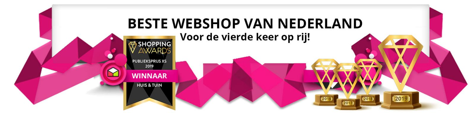 Kabelshop.nl is de trotste winnaar van de Shopping Awards 2019!